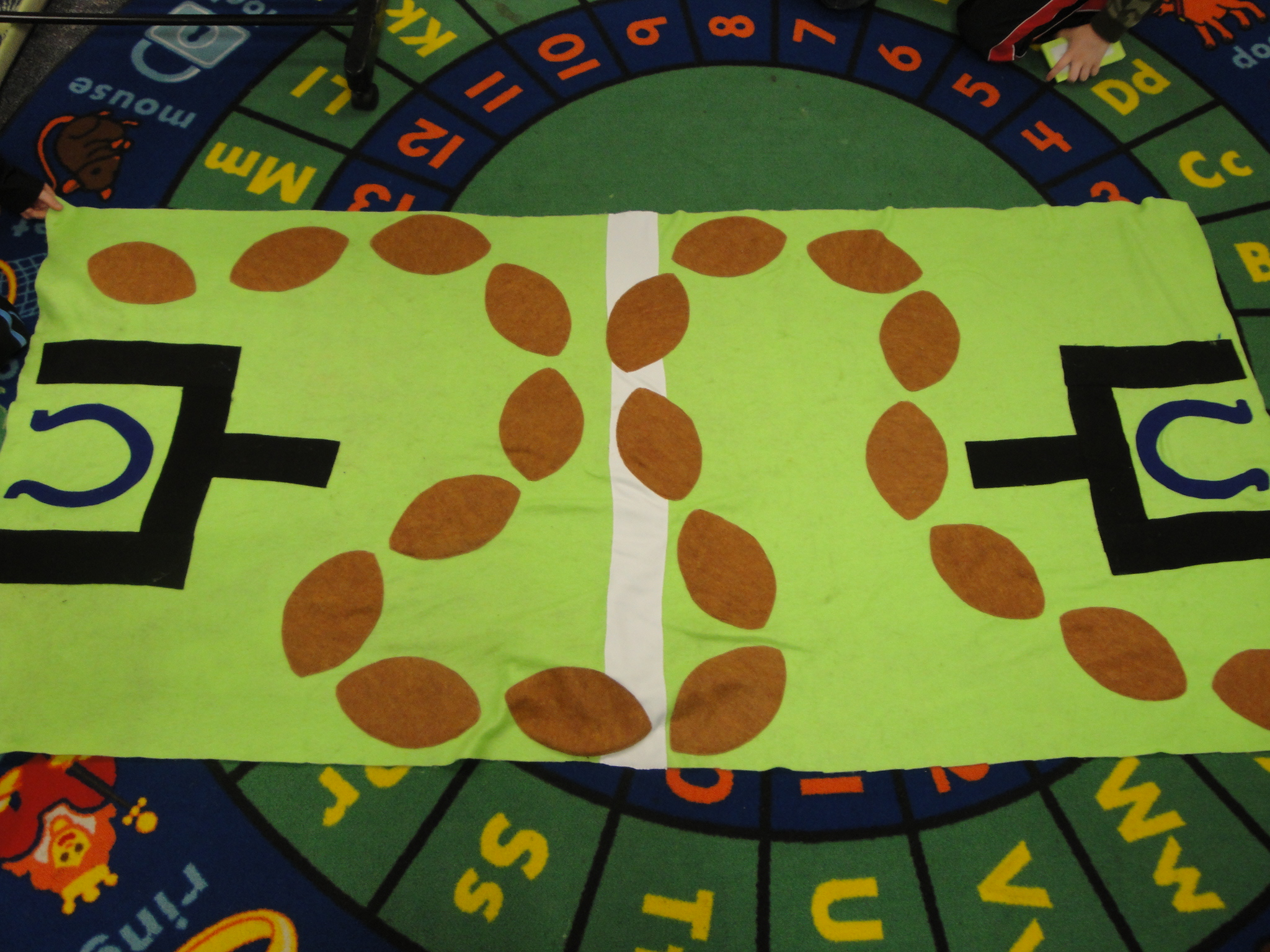 12 Gifts Of Christmas Giant Football Game Board A Project At A Time