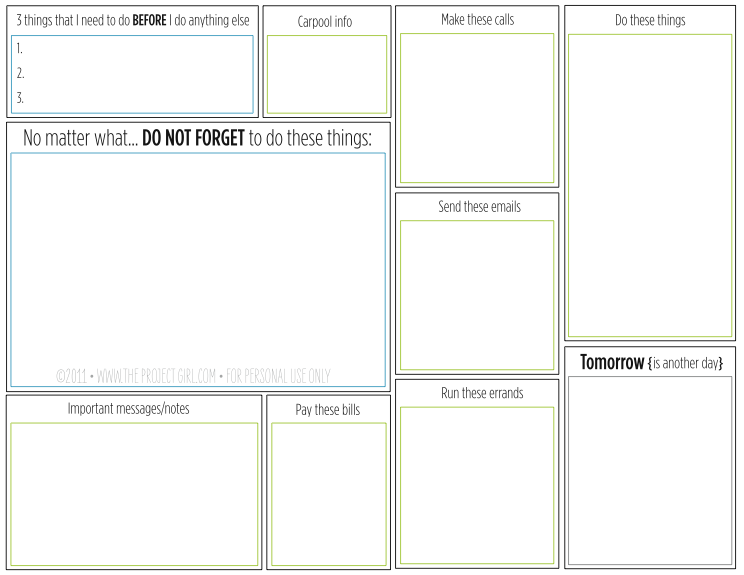 To do lists a project at a time for Home project planner