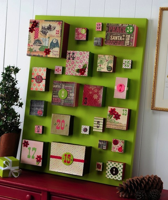 Creative collections advent calendars a project at a time for Diy christmas advent calendar ideas
