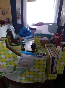 That resolution about clearing off the dining room table will start once the office is clean!