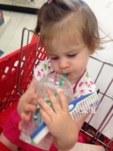 Many trips to Target in the last six weeks (PS--that frappaccino was empty!)