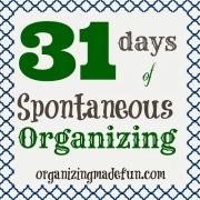 31 days of spontaneous organizing