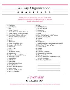 50-Day-Organization-Challenge