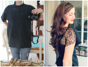 Lace-shirt-refashion-before-and-after